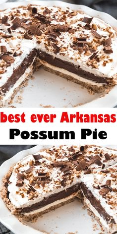 ARKANSAS POSSUM PIE ##chocolate #pie #southern #dessert#recipe #easy #homemade #fromscratch#creamcheese #chocolatepudding