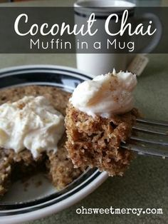 The Trim Healthy Mama Muffin in a Mug recipe is so easy, tasty and versatile! I whipped up this Coconut Chai version and loved it so I'm sharing it with you