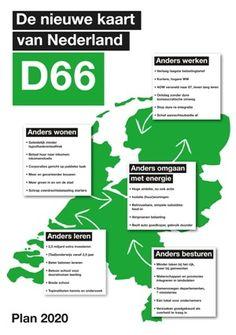 D66 nieuwe kaart van Nederland