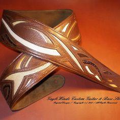 Gayle Winde Custom Guitar & Bass Straps / Online Store / Nashville Bass Guitar Accessories, Custom Leather, Nashville, Wallet, Guitar Straps, Leather Crafts, Exotic, Artisan, Store