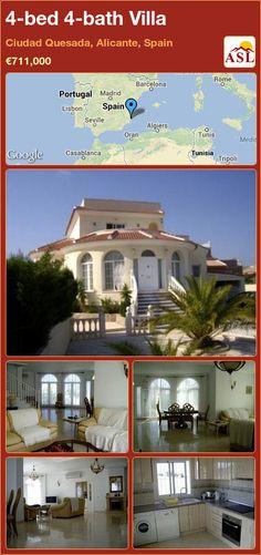 4-bed 4-bath Villa in Ciudad Quesada, Alicante, Spain ►€711,000 #PropertyForSaleInSpain