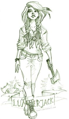 Lumberjack Girl by Fukari.deviantart.com on @deviantART