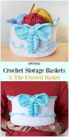 Crochet The Frosted Basket Free Pattern - Storage #Basket; Free #Crochet; Patterns