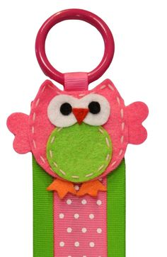 HAIR BOW HOLDER - Wall Hanging Barrette Display with Felt Owl