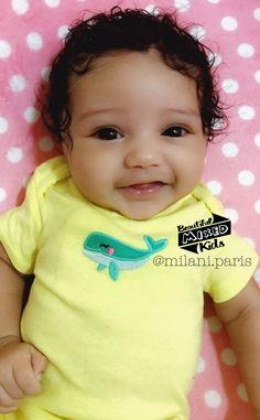 Milani Paris - 7 weeks ❤ Gorgeous baby girl with her sweet little smile Jun Precious Children, Beautiful Children, Beautiful Babies, Lil Baby, Baby Love, Baby Kids, Cute Kids, Cute Babies, Cutest Babies Ever