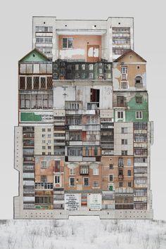 Genius Loci / RU / Yekaterinburg /collage / print can be ordered on… Collage Architecture, Architecture Details, Architecture Geometric, School Architecture, Create Collage, Collage Art, Collages, Photomontage, Genius Loci
