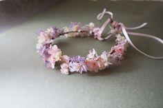 Couronne Sophie vraies fleurs stabilisées : Accessoires coiffure par asami-fleur