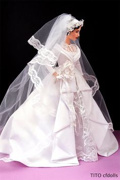 """Barbie Elizabeth Taylor """"Father of The Bride"""" I have a habit of putting 1950's movies barbies on my board..."""