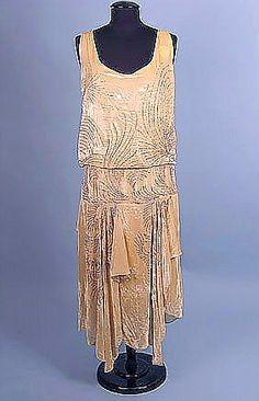 1928 Rhinestone Velvet Evening Dress