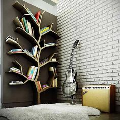 Nice place to put your books | http://www.decoridea.inf...