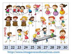 Recortables para imprimir. Puzles por números y letras (7)
