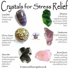 Stress relief crystals