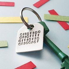 Binary Message Key Ring from notonthehighstreet.com