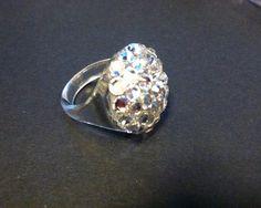 Swarovski Crystal Rhinestone Ring on Etsy, $12.00