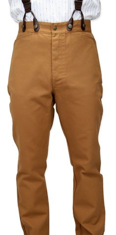 Classic Canvas Trousers - Brown