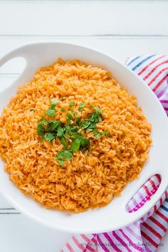 This Mexican Rice couldn't be more simple to make and so much better than anything you could find in a box! You may already have these ingredients on hand.