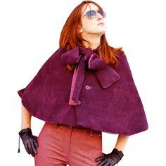 Free downloadable cape sewing pattern via Burda Style