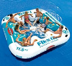 Fiesta Private Island Float / A perfect pool party for eight steps in through this Fiesta Private Island Float that's one of the most comfortable solutions for you to party together. http://thegadgetflow.com/portfolio/fiesta-private-island-float/