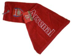 ARSENAL 'Tri-Fold' Golf Towel. Official Licensed Arsenal golf gift. FREE DELIVERY ON ALL OF OUR GIFTS