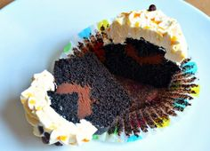 Chocolate Ganache Cupcakes with Caramel Frosting