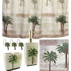 Details about TOILET PAPER STORAGE RACK BRONZE TROPICAL PALM TREES ...