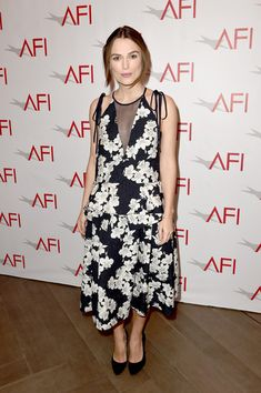 Keira Knightley Print Dress - Keira Knightley Looks - StyleBistro