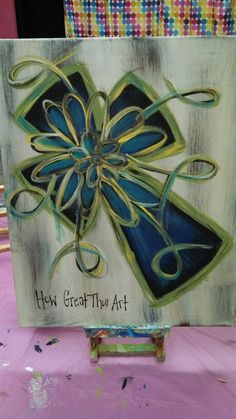 Cross canvas paintin