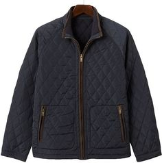 Chaps quilted jacket - men thestylecure.com