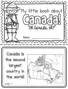 Canada Booklet (A Country Study) Canada Booklet (A Country Study)-- Use during social studies units about countries around the world! Kindergarten Social Studies, Teaching Social Studies, Canada Day Crafts, Canada Day Party, All About Canada, Around The World Theme, Montessori, Geography Lessons, Canadian History