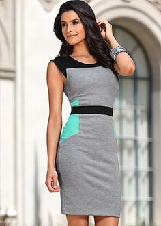 New dress for a new job? I think this color block dress is right up my alley :)