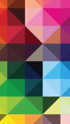 Triángulos de color