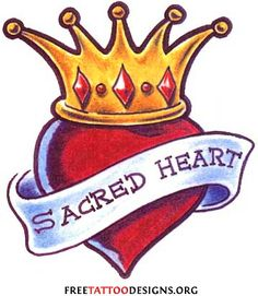 winged heart with crown and flame - Google Search