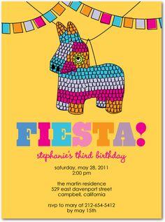 Cute invitation for your class fiesta!