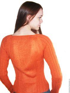 Купить Полувер вязаный Рыжий Свитер рыжий Джемпер вязаный микрофибра - вязаный пуловер