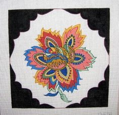 "D-578 French Flower #13 Mesh, 14"" x 14"""