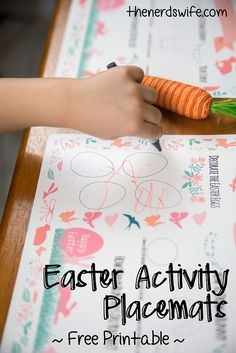 Printable Easter Activity Placemats are a fun way to keep kids entertained during dinner. Plus, more tips for hosting a stress-free meal!