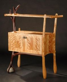 Cocobolo and Birch Cabinet