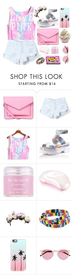 """""""pink friday"""" by seriouskatya ❤ liked on Polyvore featuring Marc by Marc Jacobs, Glamorous, Sara Happ, Tangle Teezer, Moschino, Casetify, Illesteva, love, Pink and tree"""