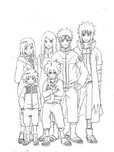 Hinata, Naruto, Himawari, Boruto, Kushina and Minato