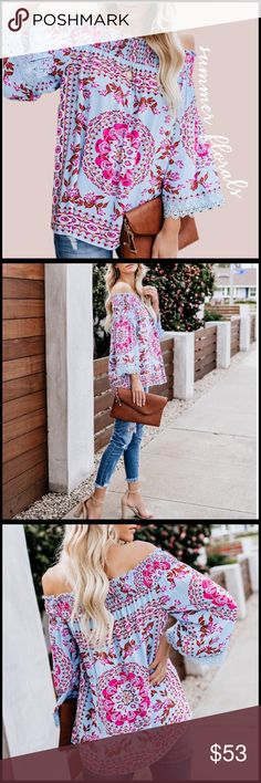 6160757b01 Spotted while shopping on Poshmark  Summer Florals Top!  poshmark  fashion   shopping