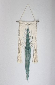 "Macrame Wall Hanging ""Energy Flow no.35"" by HIMO ART, One of a kind Handcrafted…"