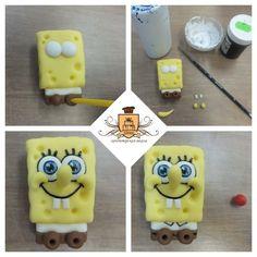 Turorial : How to make characters of SpongeBob SquarePants in polymer clay / Tutoriel : Réaliser Bob l'éponge, Patrick et Gary en pâte polymère Bob : Patrick : Gary : source : https://vk.com/asia.handmade