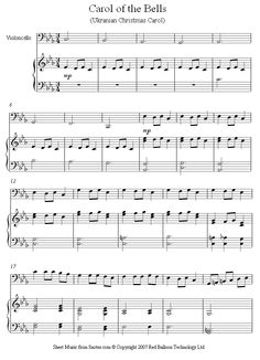 Carol of the Bells sheet music for Cello