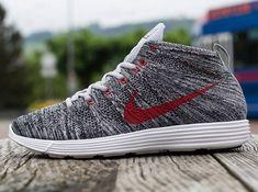 "These are beautiful Nike Flyknit Chukka ""Wolf Grey"""