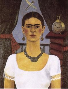 """1929 Self Portrait: """"I paint self-portraits because I am so often alone, and because I am the person I know best. —Frida"""