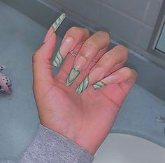 Acrylic Nail Designs, Acrylic Nails, Acrylics, Edgy Nails, Coffin Nails, Hair And Nails, Cyber, Beauty, Crafting