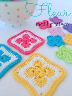 Fleur Motif By Michelle - Free Crochet Pattern - (poppyandbliss)