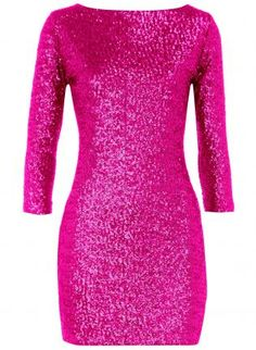 Plus Size Sequin Dress-Pink Silver Gold Birthday Party Dress ...