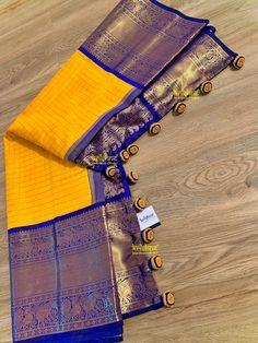 Saree Kuchu New Designs, Saree Tassels Designs, Silk Saree Blouse Designs, Yellow Saree Silk, Bridal Sarees South Indian, Latest Silk Sarees, Saree Draping Styles, Silk Saree Kanchipuram, Wedding Saree Collection