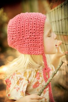 Little Flower Bonnet  Hand Knit  Crochet  Eco Friendly  by joretta, $34.00